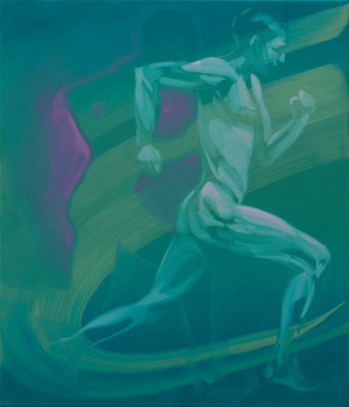UT (Muybridge) 2019 Öl auf Leinwand 70 × 60 cm