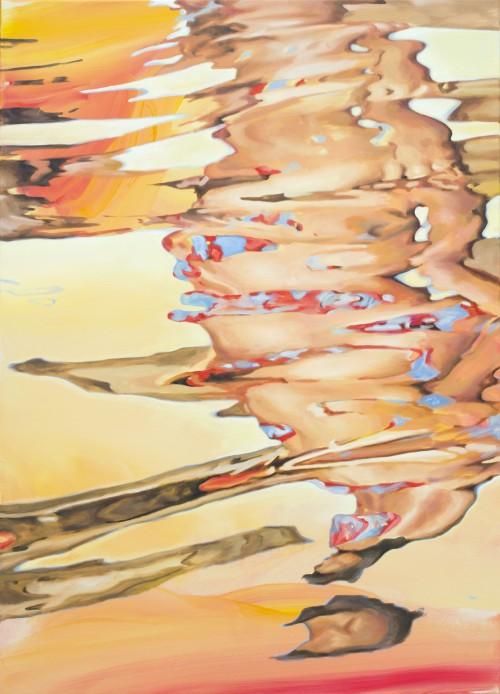 Overflow, 2019, Öl auf Leinwand, 140 x 100 cm