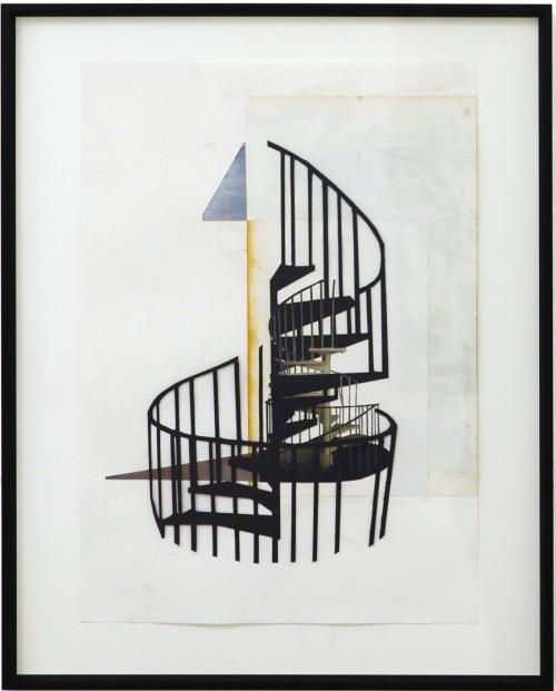 Alfons Pressnitz, Stairs, Papierschnitt/Collage, 40 x 28 cm, 2010