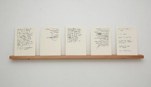 Schlaufen, 2020 Faden und Papier, 21 x 14,8 cm