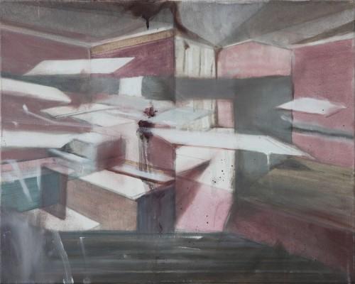 Interieur 4, 2012-13, 40 x 50 cm, Öl auf Leinwand