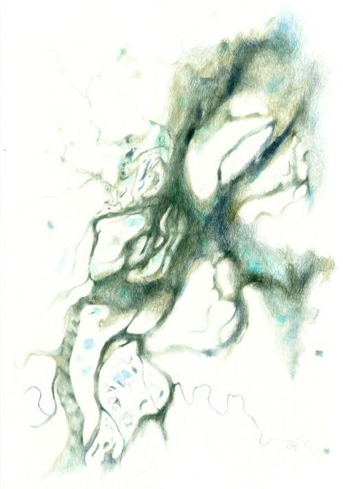 Sibirien, Farbstift auf Papier,  84,1 x 59,4 cm, 2014