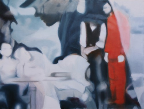 Christoph Srb, Orange (29), 2009, 110 x 145 cm, Öl auf Leinwand
