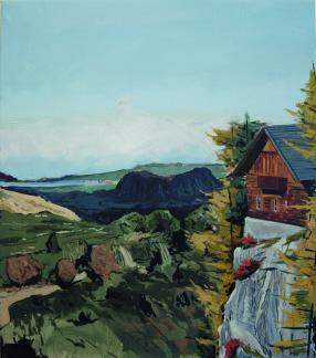 Alfons Pressnitz, Ausblick, Öl auf Leinwand,  80 x 70 cm, 2010