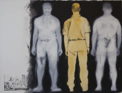 Bodyscan 4, 2011, 130 x 170 cm , Öl auf Leinwand