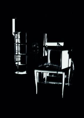 Time Caspule, Papierschnitt,  70 x 50 cm, 2010