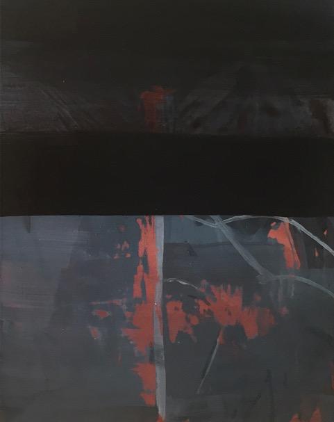 Nyx I., Öl auf Baumwolle, 35 x 45 cm, 2017