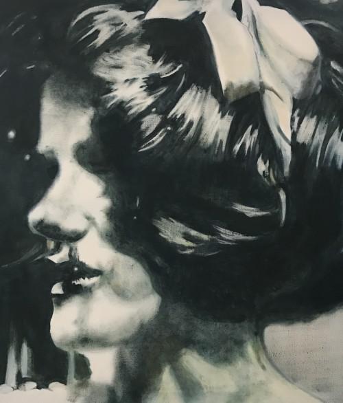 B.A. 14 Mieze, 2006, 80 x 70 cm, Acryl auf Leinwand