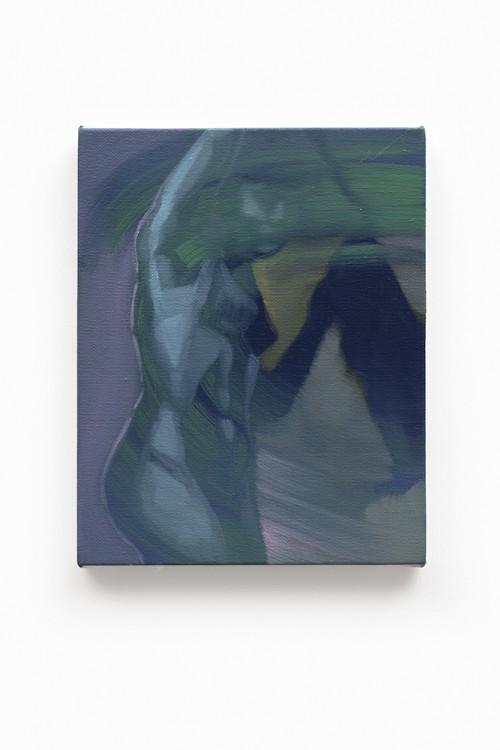 UT (After Muybridge) 2019 Öl auf Leinwan 39×31cm