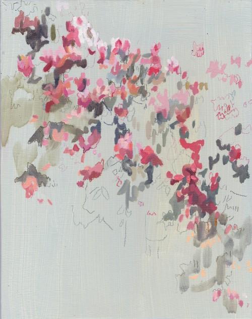 Jesmond Dene 2, Öl auf Hartfaserplatte, 23,4 x 18,5 cm, 2016