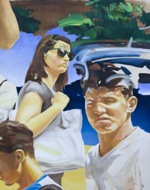 urban theartre, 2016, Öl auf Leinwand, 100 X 80 cm, € 3.000,-