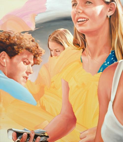 street romance, 2020, Öl auf Leinwand, 140 x 120 cm