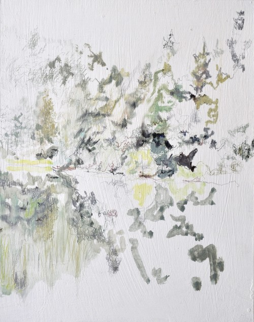 Weißes Klar, Öl auf Hartfaserplatte, 23,4 x 18,5 cm, 2016