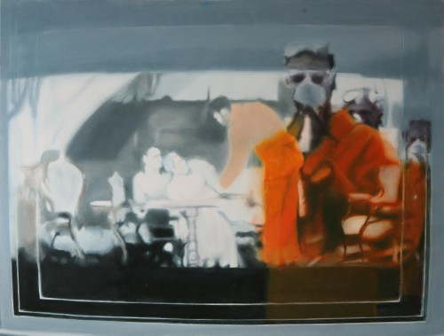 Orange 2 (30), 2009, 110 x 145 cm, Öl auf Leinwand