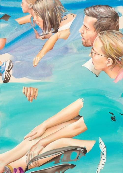 street romance, 2019, Öl auf Leinwand, 140 x 100 cm