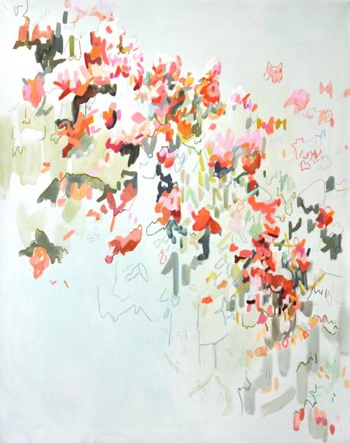 Cinthia Mitterhuber, o. T., Öl auf Leinwand, 2017, 95 x 120 cm