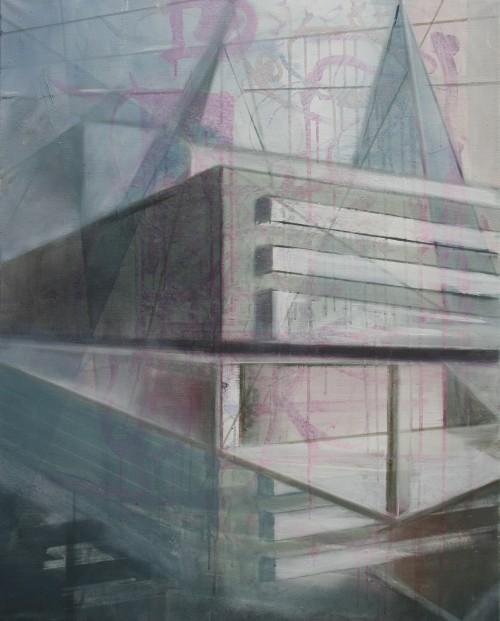 Christoph Srb, Interieur 14, 2013, 100 x 80 cm, Öl auf Leinwand