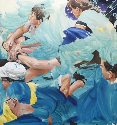 urban divers, 2017, Öl auf Leinwand, 150 x 140 cm 4.800,- €