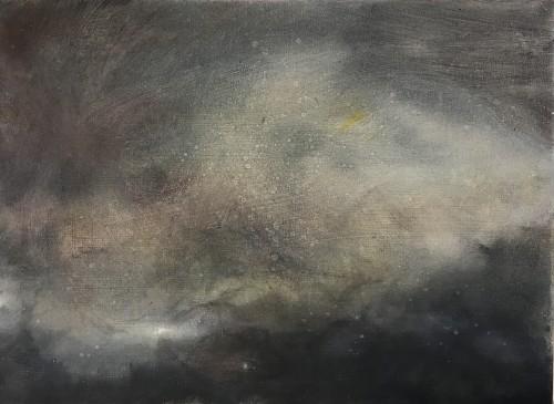 EVE 6, 2016, 40 x 50 cm, Öl auf Leinwand