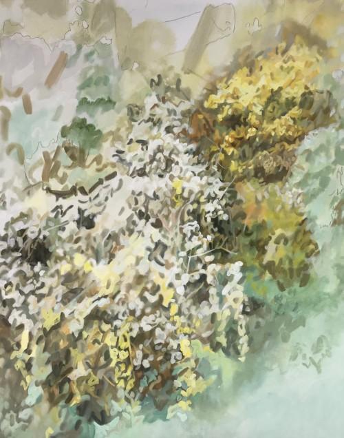Öl und Farbstift auf Leinwand, 100 x 79 cm, 2017