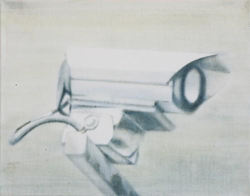 Kamera 4, 2006, 44 x 56 cm, Öl /Acryl auf Leinwand
