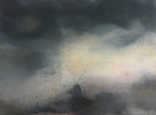 EVE 7, 2016, 38 x 42 cm , Öl auf Leinwand
