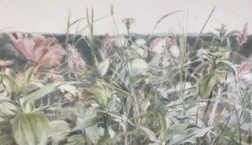 Wiesenstück, 2017, 70 x 120 cm, Öl auf Leinwand