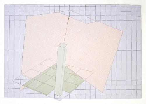 Corner, Handgeschöpftes Papier auf Transparentpapier, 66 x 44 cm, 2011