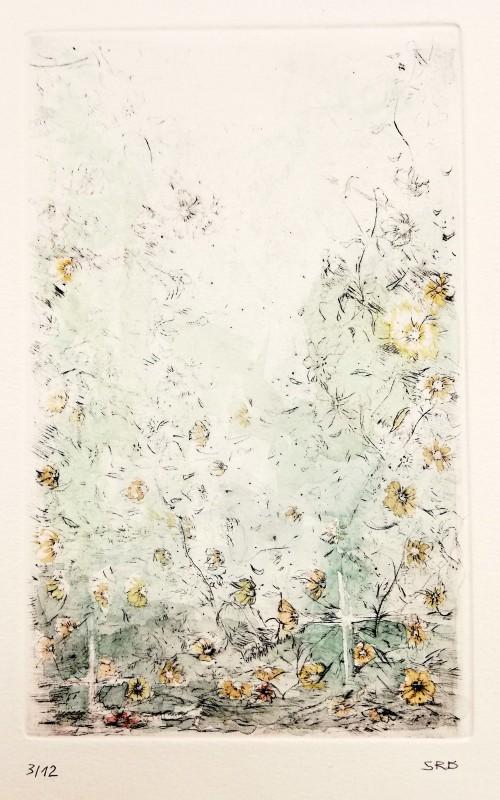 Kaltnadelradierung koloriert, Motivgröße 12,5 x 20 cm, signiert, Auflage 12 Stk