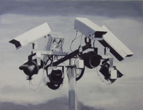 Kameraensemble 2, 2007, 130 x 170 cm, Öl/Acryl auf Leinwand