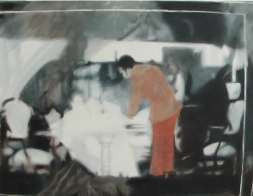 Orange 5 (33) , 2009, 110 x 145 cm, Öl auf Leinwand