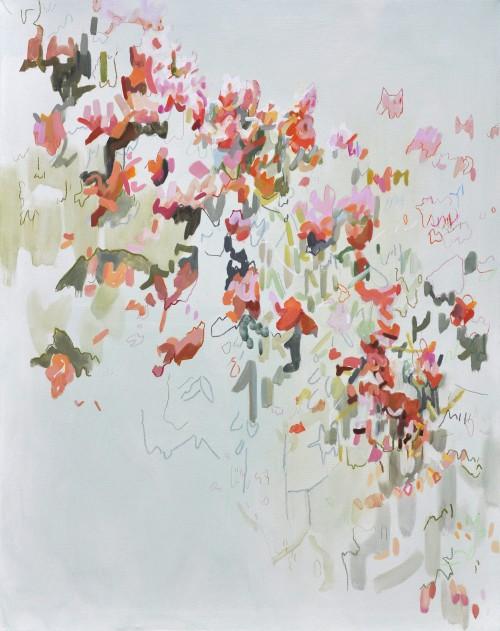Jesmond Dene, Öl und Farbstift auf Leinwand, 120 x 95 cm, 2017