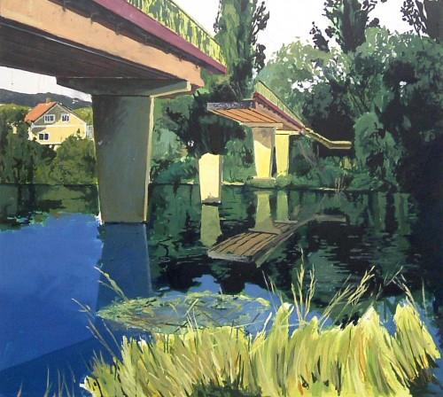 Alfons Pressnitz, Brücke, Öl auf Leinwand, 85 x 95 cm, 2008