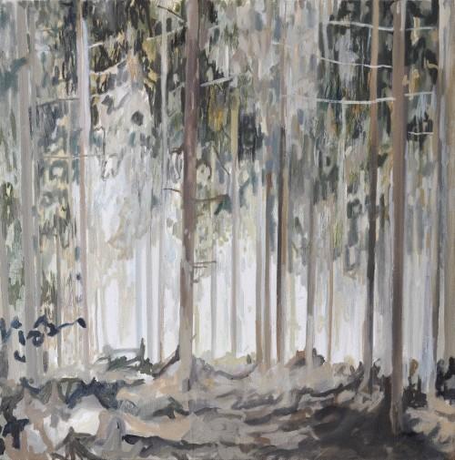 Weißer Schimmer, Öl auf Leinwand, 40 x 40 cm, 2016