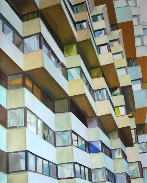 Rhythmus, Tempera auf Leinwand,  130 x 105 cm, 2010