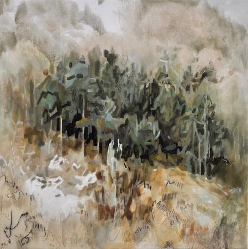 Cinthia Mitterhuber, März, Öl auf Leinwand, 50 x 50 cm, 2018