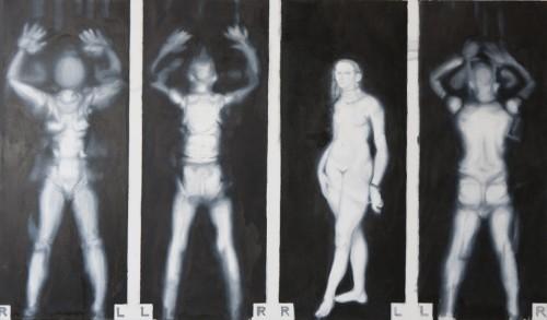 Bodyscan 5, 2011, 105 x 180 cm, Öl auf Leinwand