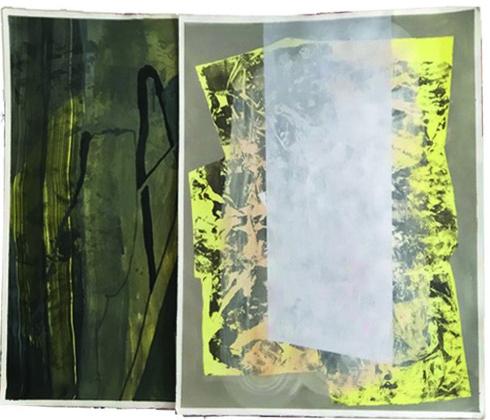 As we sink we melt, Acryl auf Büttenpapier, 70 x 100 cm, 2017