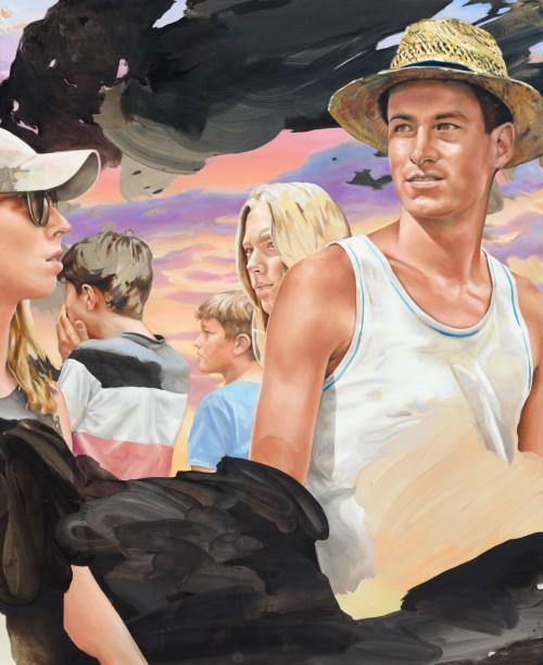 Wenn die kann Veigl hab'n (street romance), 2020, Öl auf Leinwand, 220 x 180 cm