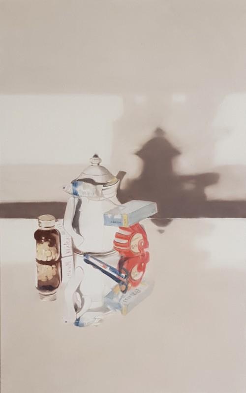 Christoph Srb, Dinge, Öl auf Leinwand, 60 x 94,5 cm, 2018