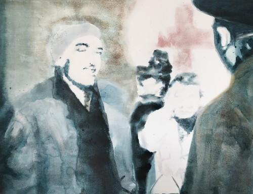 B.A. Schaufenster kieken, 2006, 85 x 110 cm, Öl/Acryl auf Leinwand