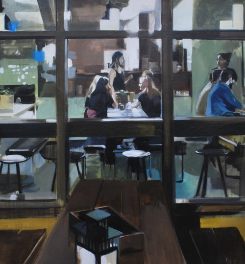 Los ultimos, Öl auf Leinwand, 2020, 70 x 73 cm