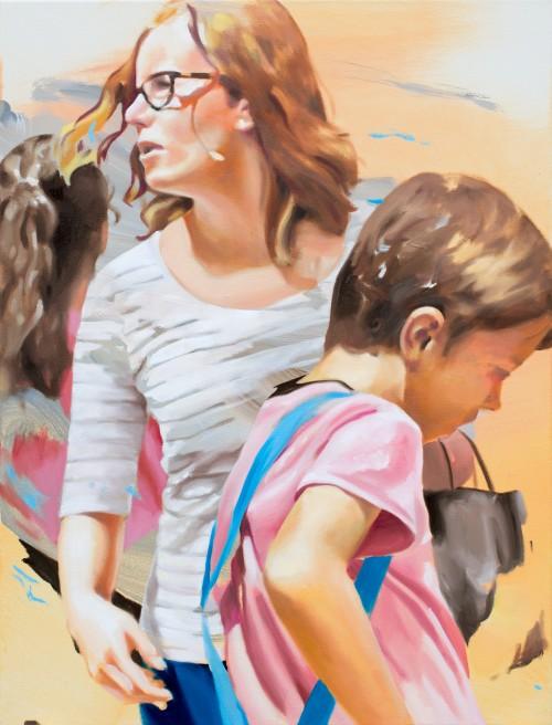 street romance, 2019, Öl auf Leinwand, 80 x 60 cm