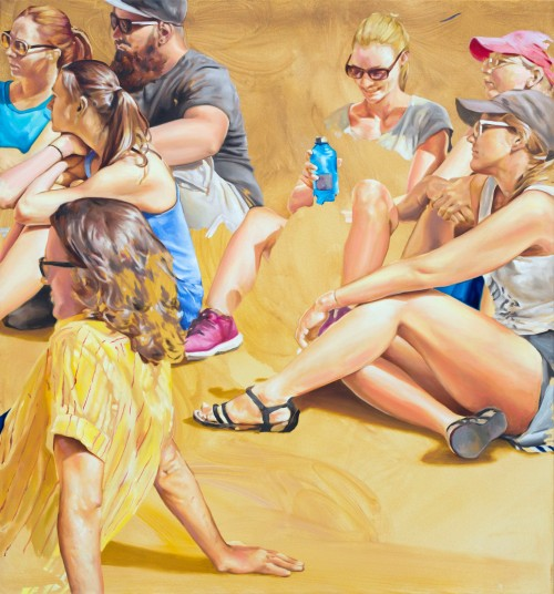 street romance, 2020, Öl auf Leinwand, 150 x 140 cm