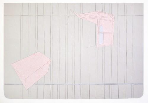 Shed, Handgeschöpftes Papier auf Transparentpapier, 65 x 44,5 cm, 2011