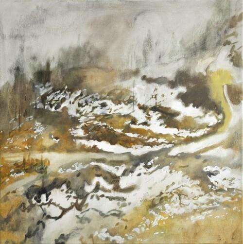 Cinthia Mitterhuber, Schubert, Öl auf Leinwand, 50 x 50 cm, 2018