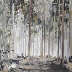 Cinthia Mitterhuber, weißer Schimmer, Öl auf Leinwand, 40 x 40cm, 2016