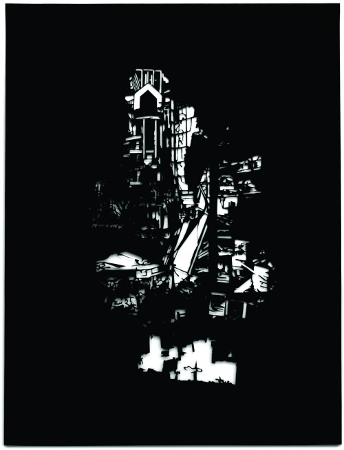 Alfons Pressnitz, Building, Papierschnitt,  45 x 35 cm, 2016