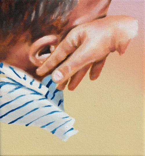 small gesture, 2019, Öl auf Leinwand, 20 x 18 cm