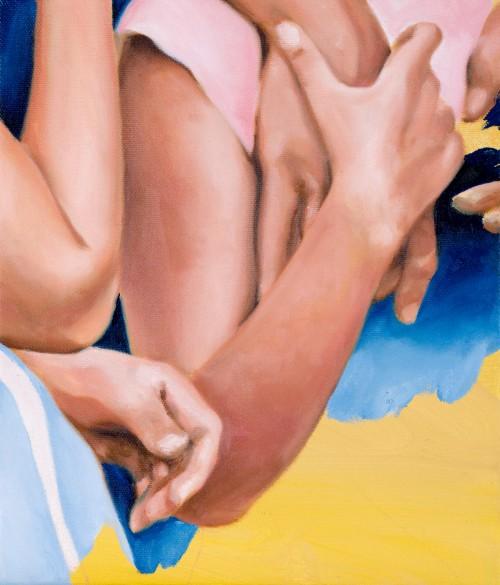 small gesture, 2020, Öl auf Leinwand, 35 x 30 cm